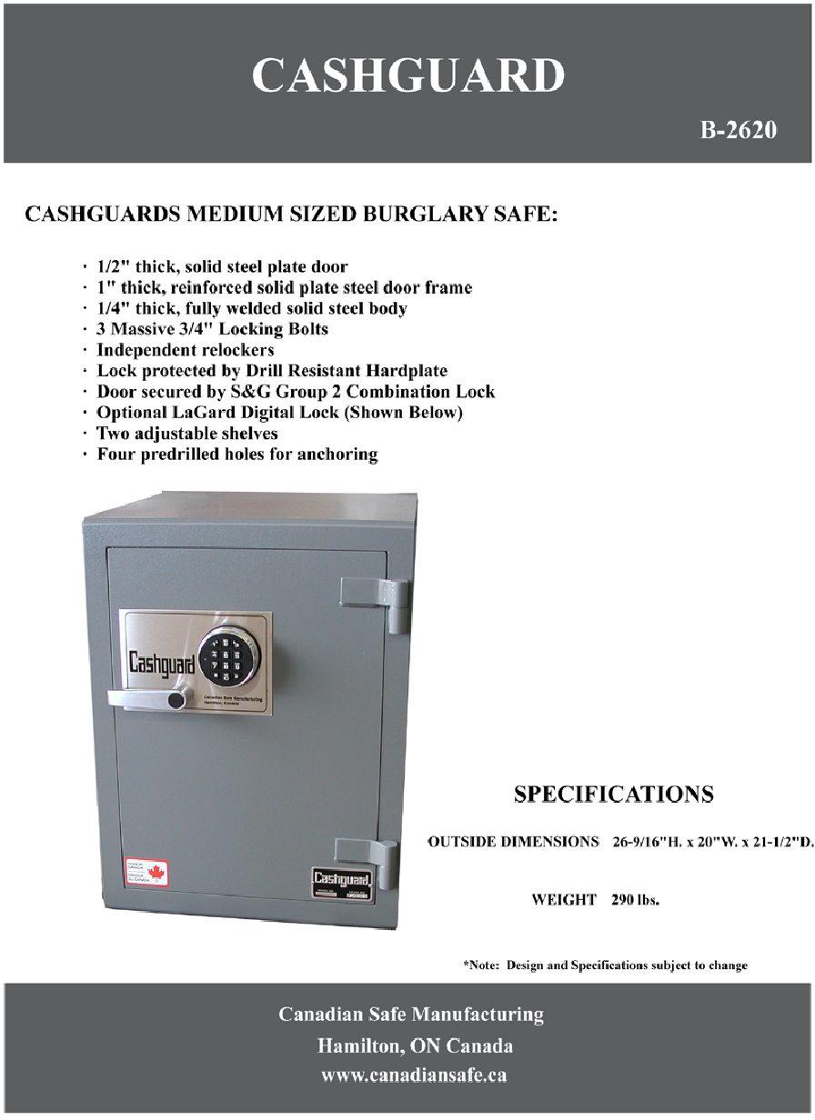 B-2620 Safe